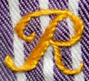 London Embroidery School monogramming class