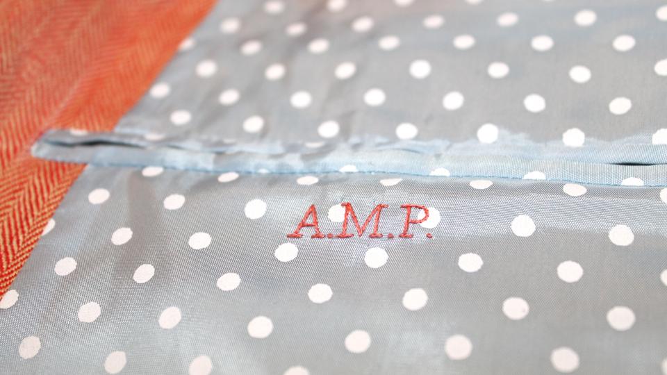 Jacket lining monogram