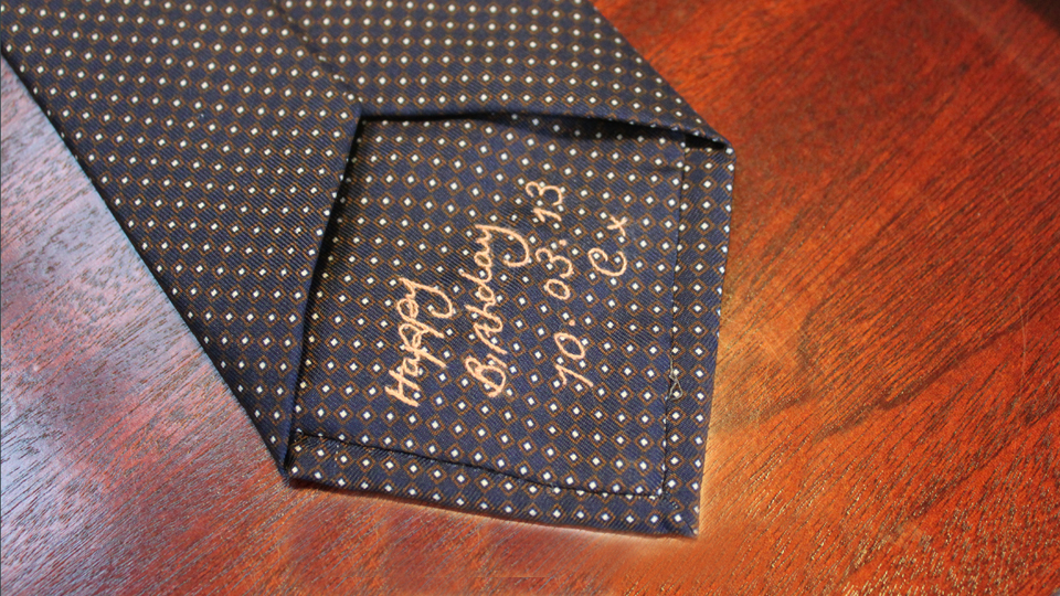 Embroidered Anderson and Sheppard Tie