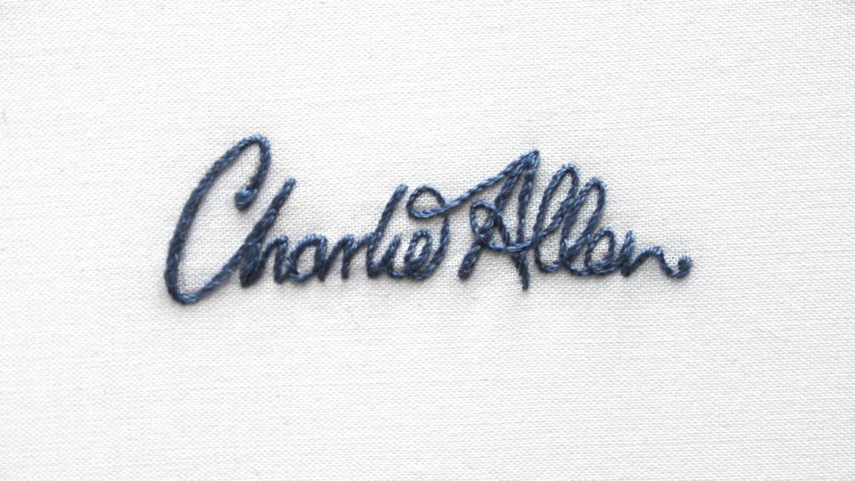 Embroidered Charlie Allen Logo