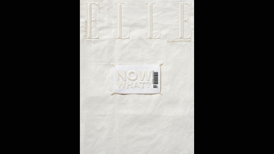 ELLE cover embroidery bespoke custom