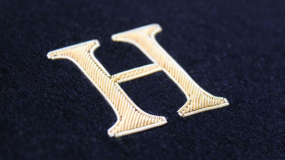 H gold work monogram