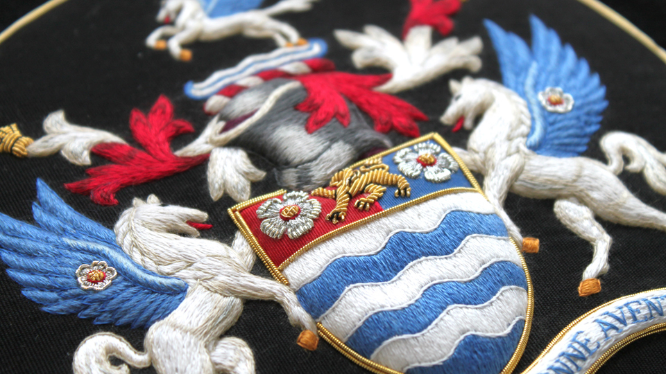 heraldic crest embroidery