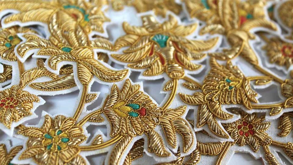 Islamic floral goldwork fr SIBLING