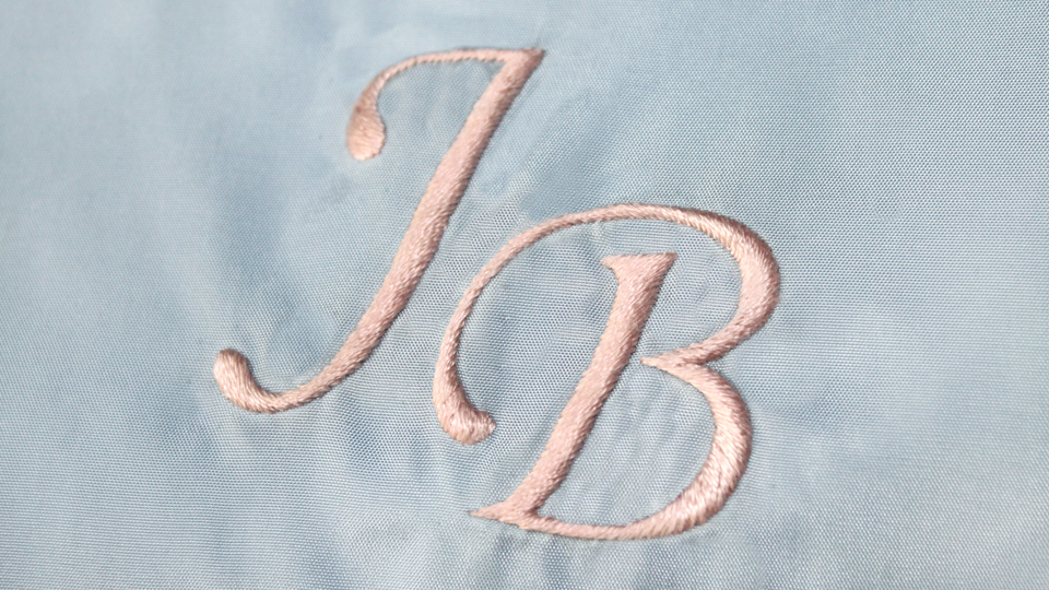 Silk work monogram