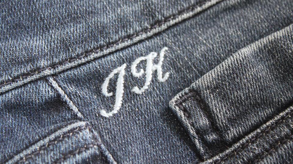 JK mnogrammed jeans MIH