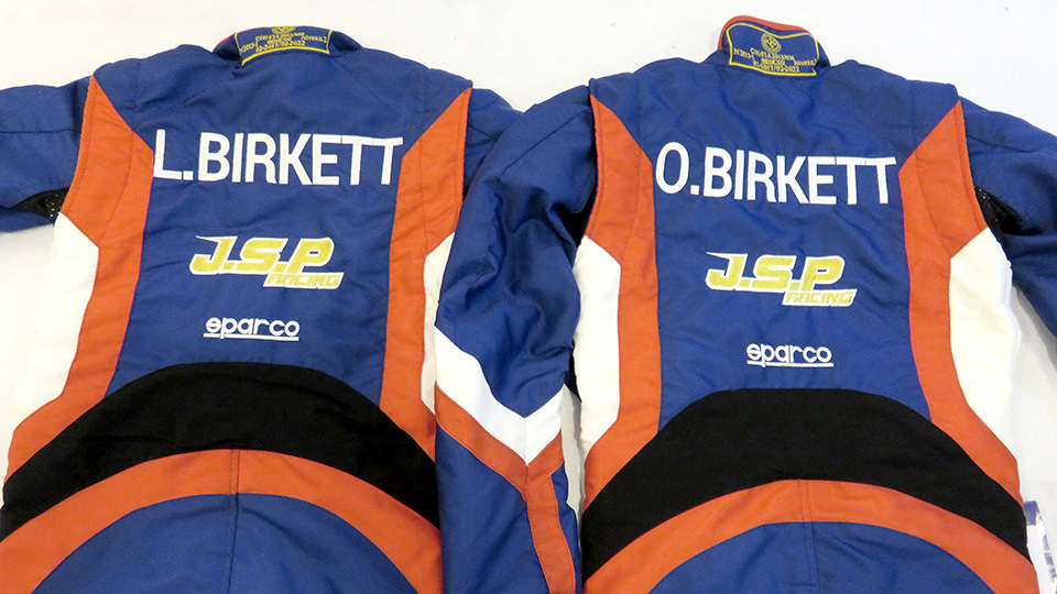 London bespoke embroidered race suit promotional gift