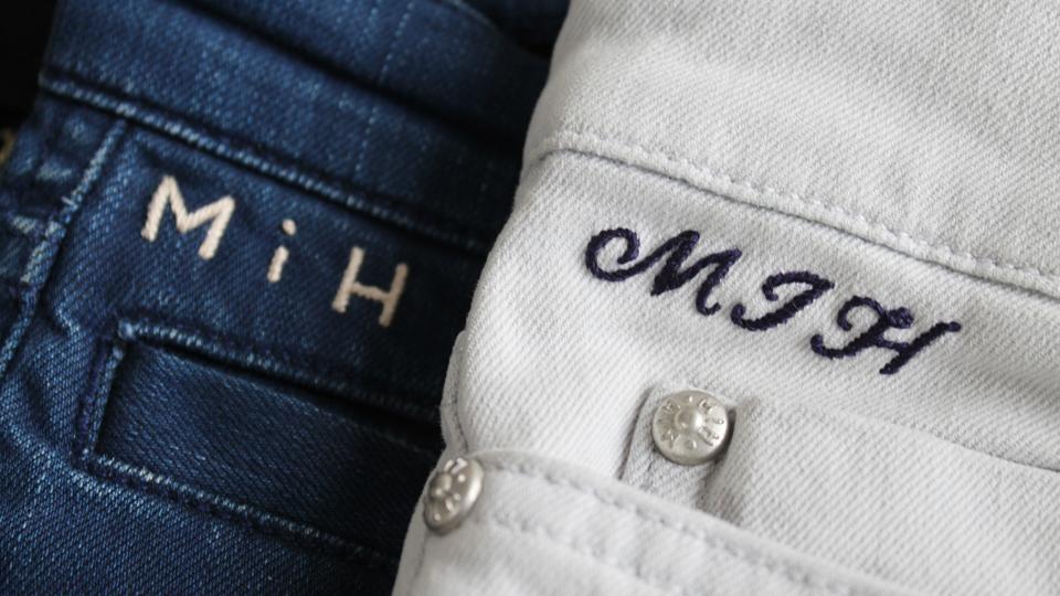 MIH mono jeans