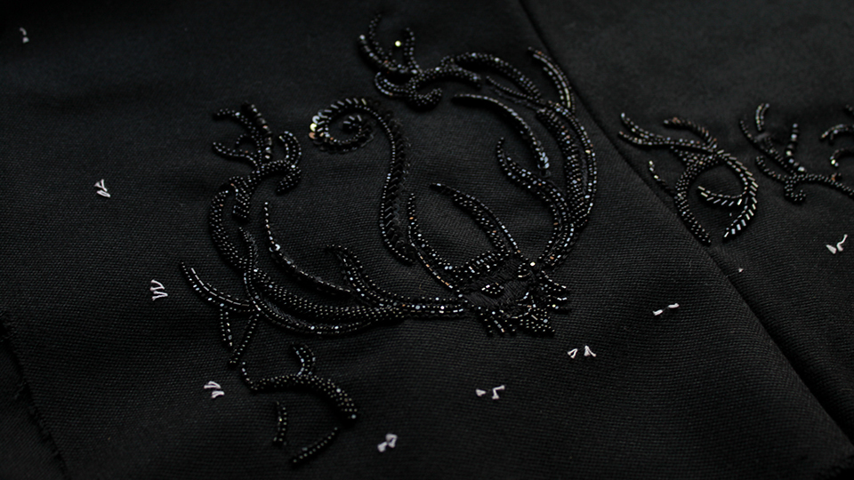 bespoke beaded embroidered cuffs