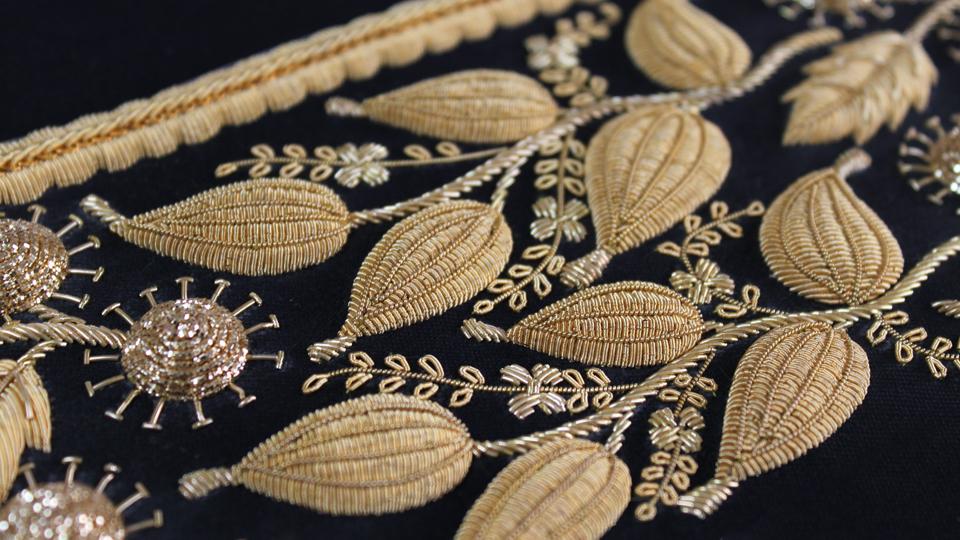 bespoke cuff embroidery