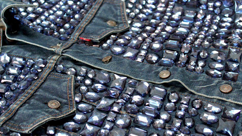 bespoke embroidered denim jacket fashion