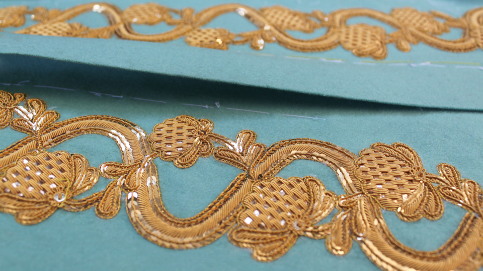 bespoke gold work embroidery