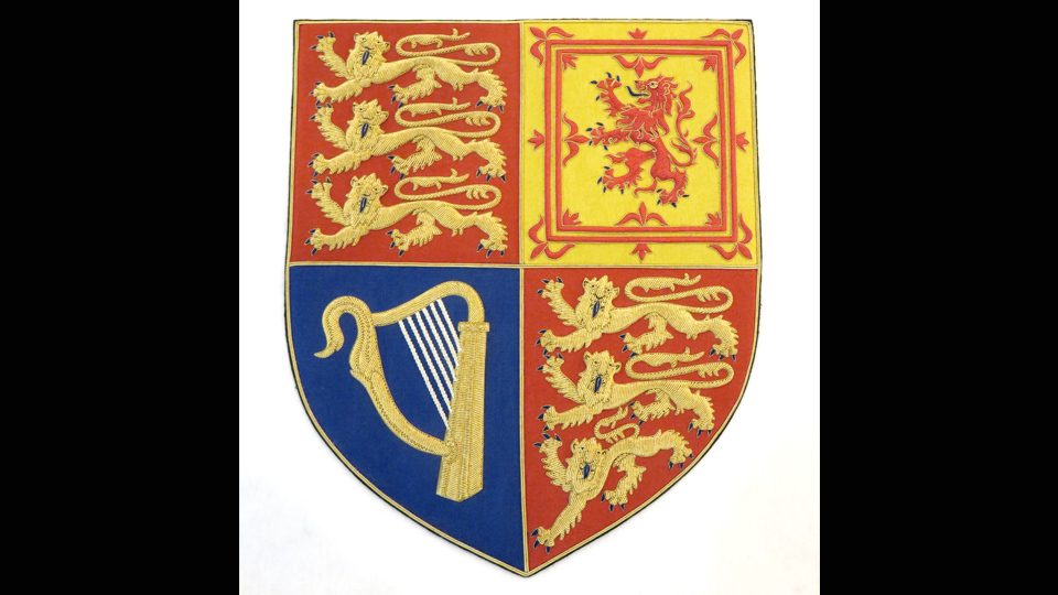 bespoke hand embroidery royal arms