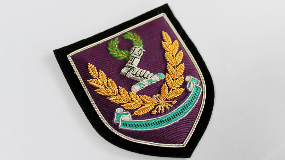 blazer badge crest embroidery ceremonial
