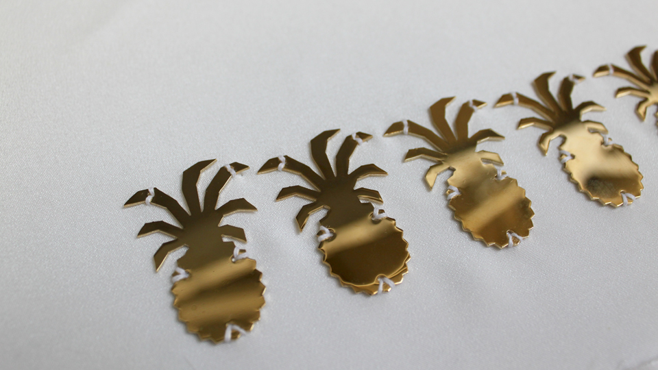 brass sequin pineapple