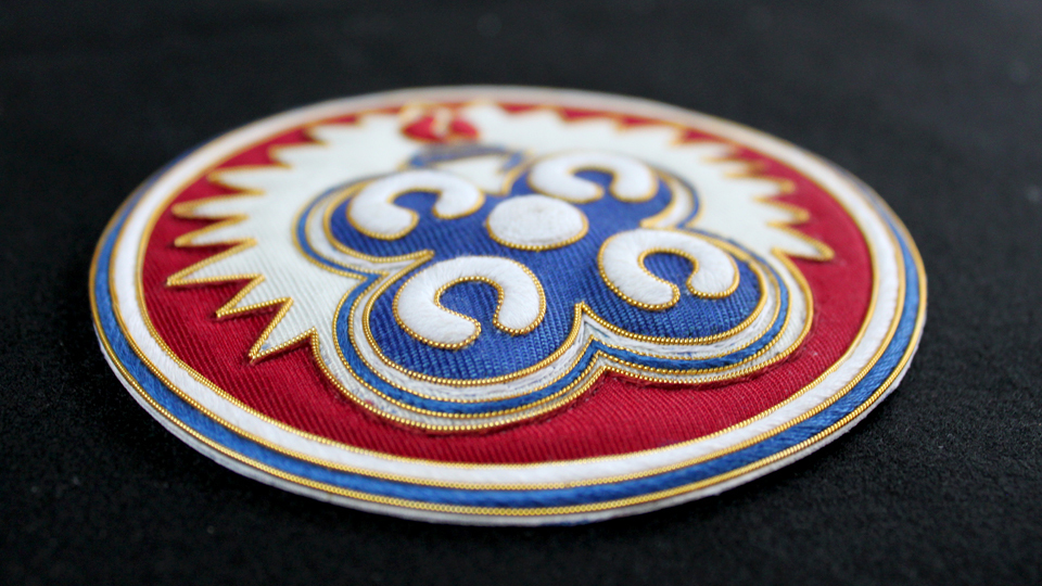 ceremonial badge embroidery