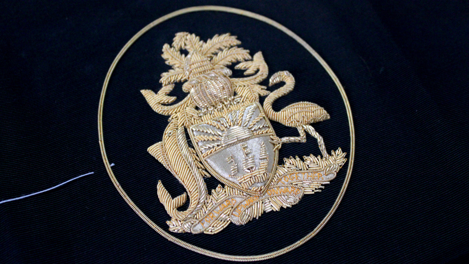 coat of arms embroidery gold ceremonial
