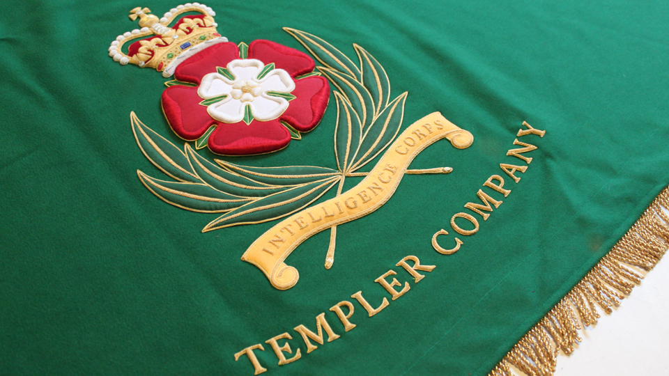 company crest table cloth