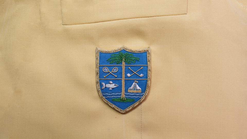 crest embroidery badge