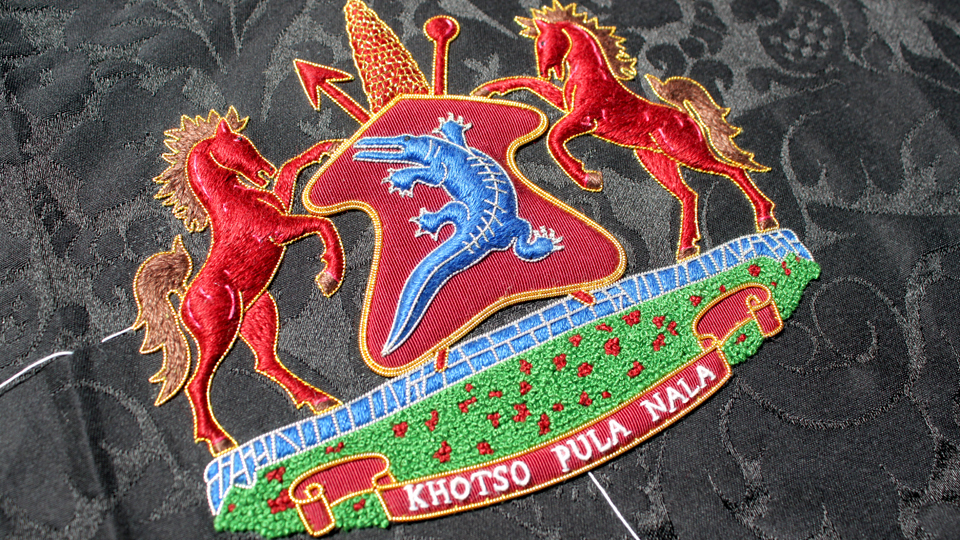 crest embroidery horses ceremonial