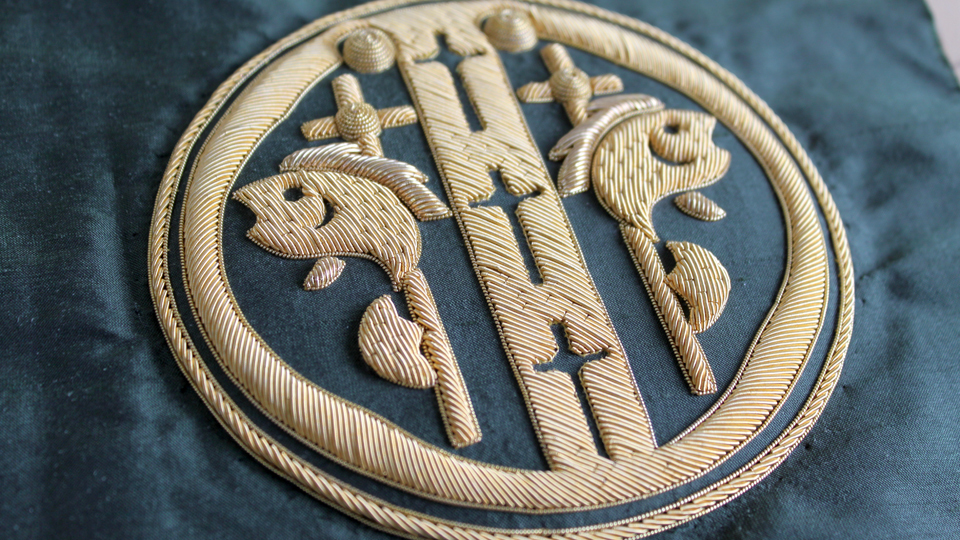 cutwork embroidered badge