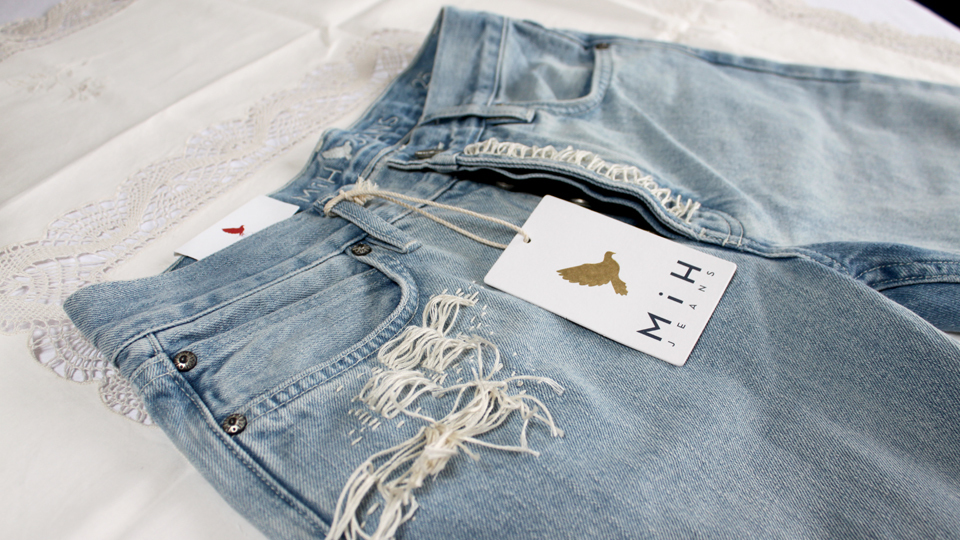 distressed denim fashion