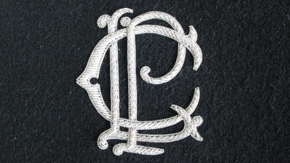 embroidered slipper monogram