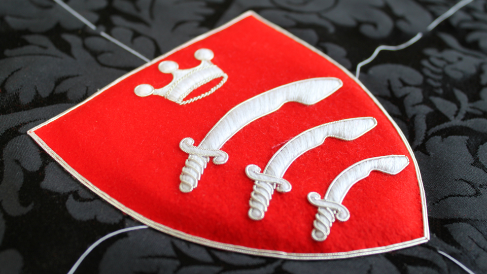 essex crest embroidery ceremonial