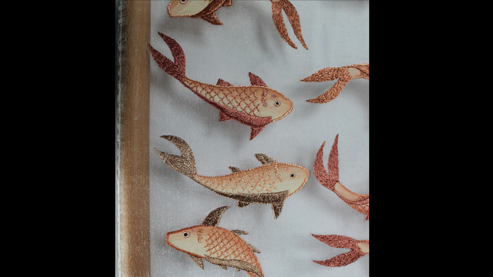 fashion embroidered fish