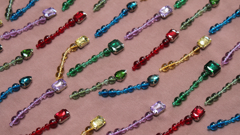 fashion embroidery beading crystals dangly
