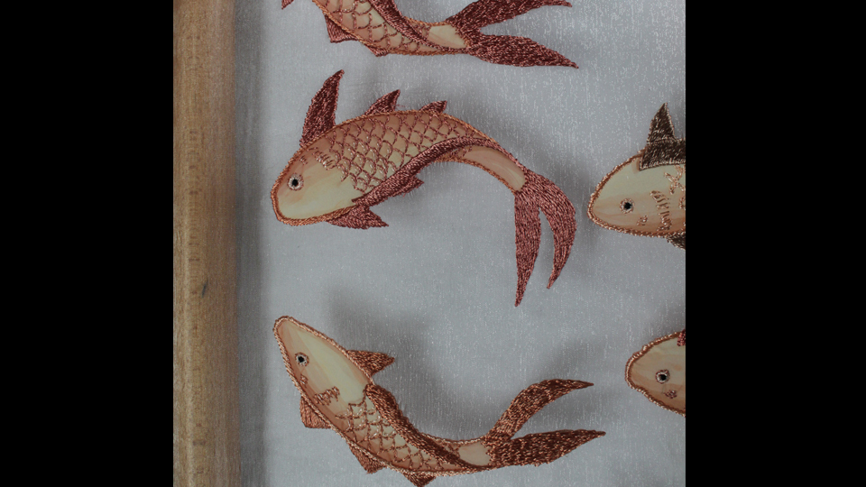 fashion hand embroidered fish