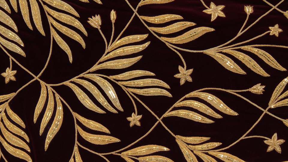gold work hand embroidery