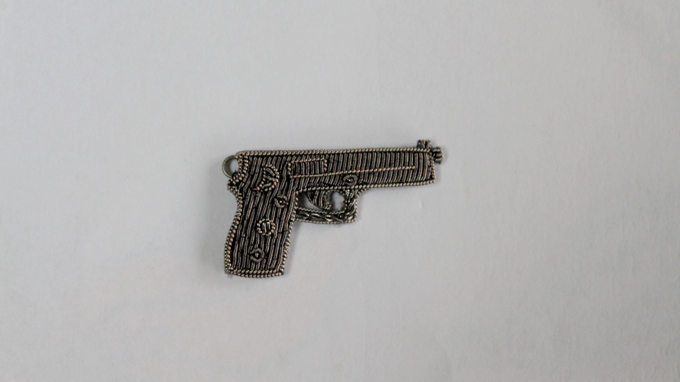 gun embroidery fashion