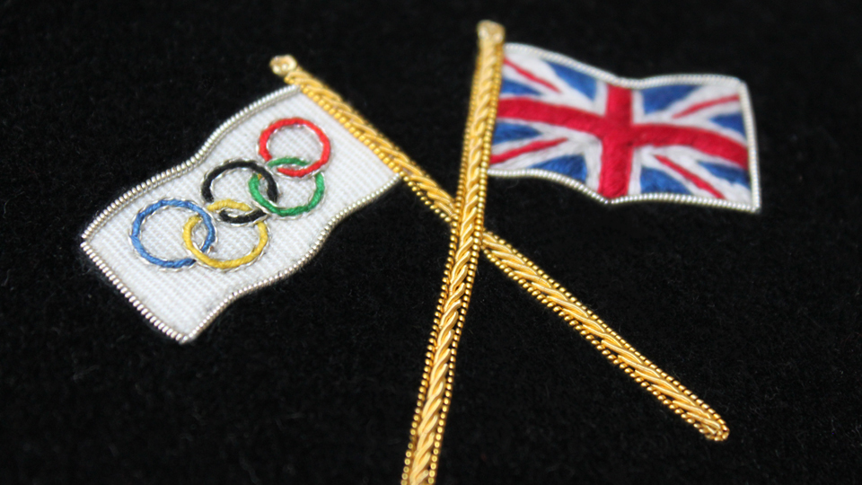 Hand Embroidered In The Uk Olympic Flag | HAWTHORNE U0026 HEANEY