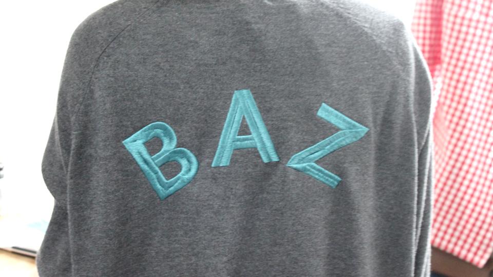 large block font monogram