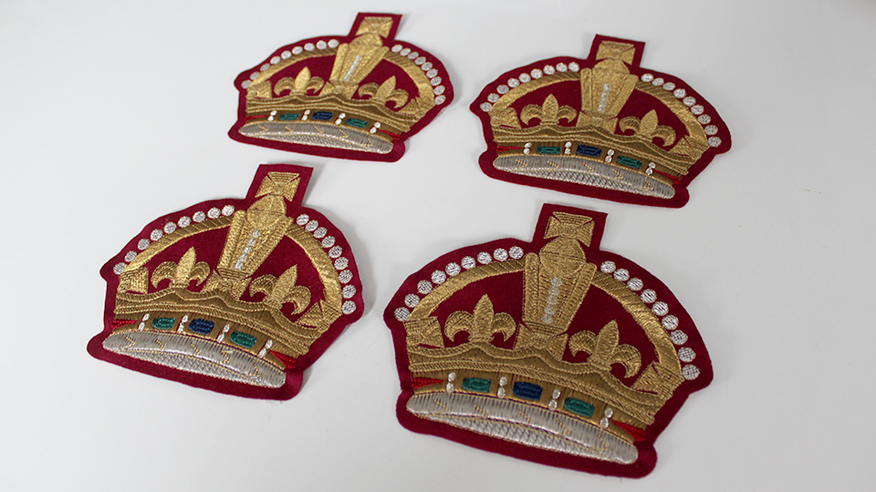machine embroidery crown for costume
