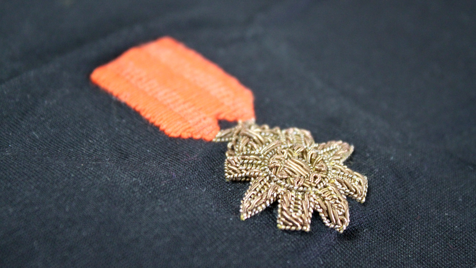 medal embroidery goldwork