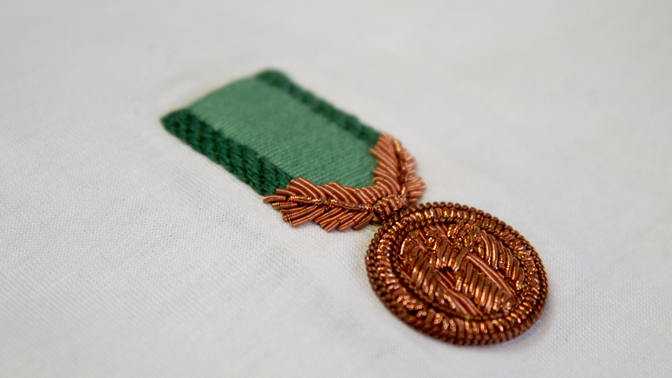 medal embroidery