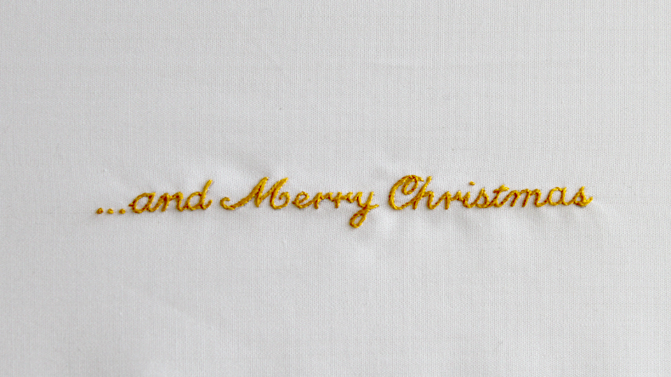 merry xmas embroidery