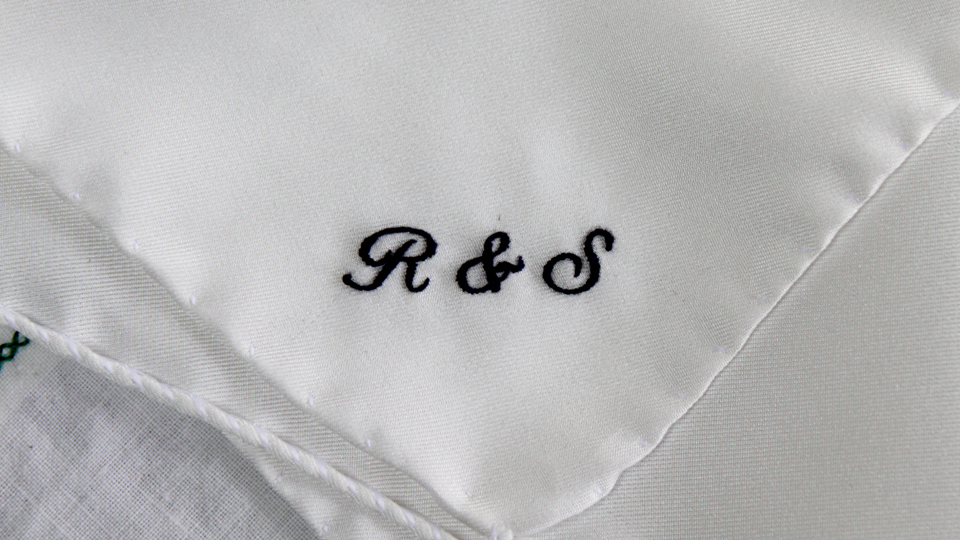 monogram embroidery