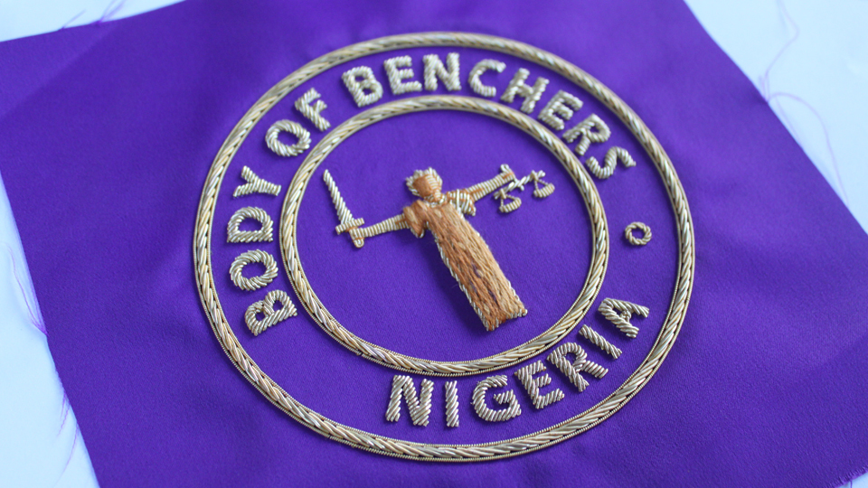 nigeria crest embroidery ceremonial