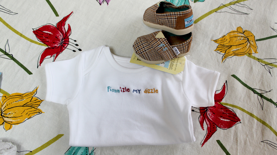 onesie and toms bespoke embroidery