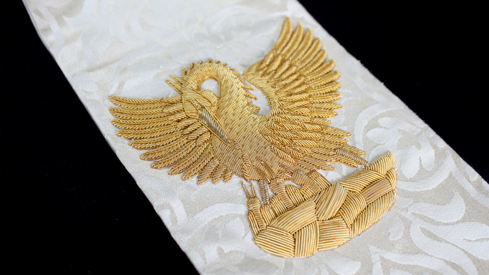 pheonix ceremonial embroidery