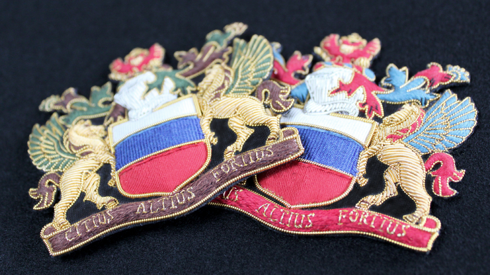 His and hers bespoke crest