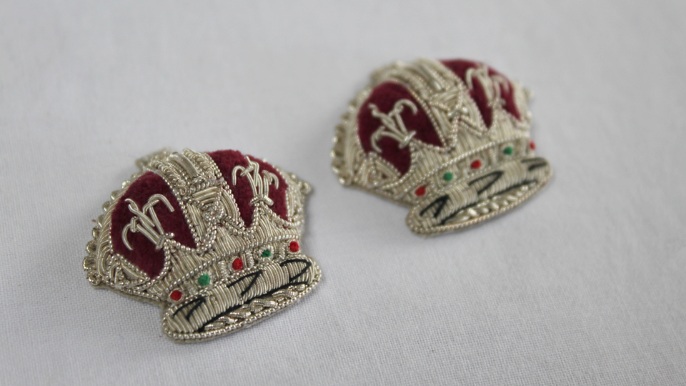 replica crown embroideries
