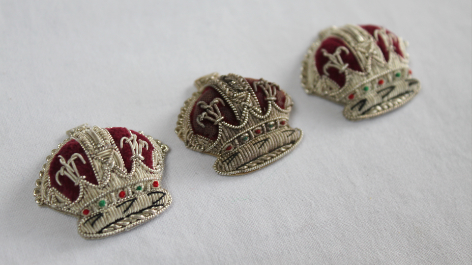 replica crowns embroidery