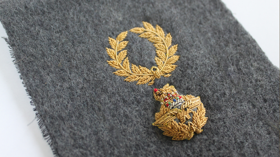 shoulder board embroidery