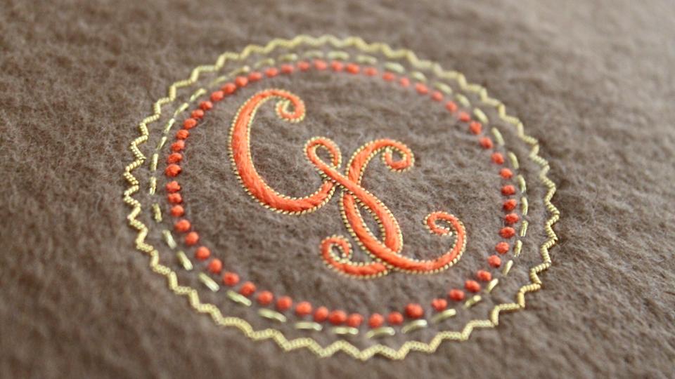 silkwork onto cashmere george cleverley