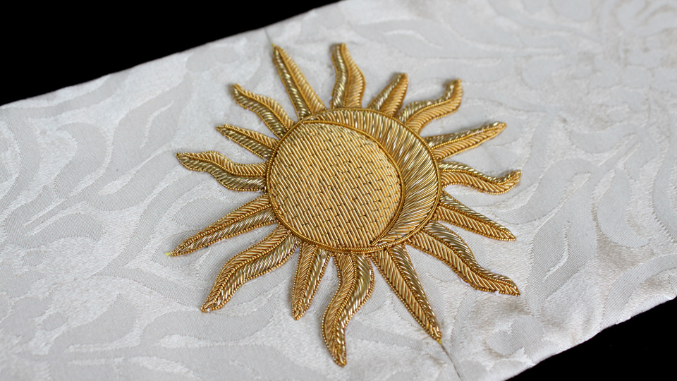 sun embroidery goldwrk ceremonial