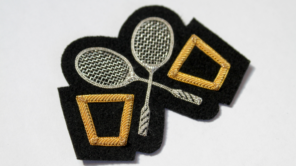 tennis blazer badge embroidery fashion